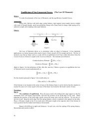 Equilibrium of Non-Concurrent Forces; (The Law Of ... - Physics