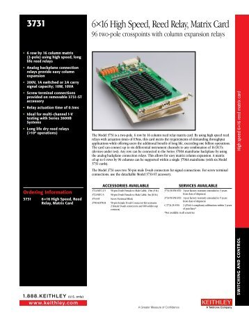 6×16 High Speed, Reed Relay, Matrix Card - Stanley Supply ...