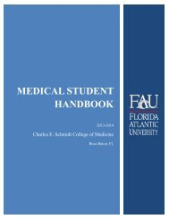 Student Handbook - College of Medicine - Florida Atlantic University