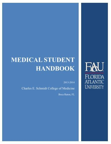 Student Handbook - College of Medicine - Florida Atlantic University