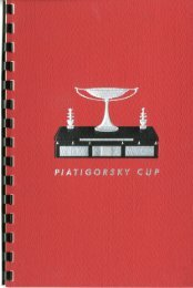 July 17-August 15, 1966, Second Piatigorsky Cup ... - ChessDryad