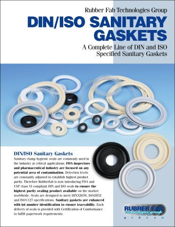 DIN/ISO SANITARY GASKETS - Rubber Fab Mold and Gasket