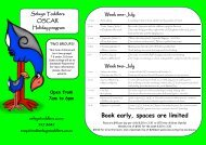 Book early, spaces are limited - Selwyn Toddlers