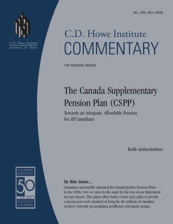 The Canada Supplementary Pension Plan - CiteSeerX