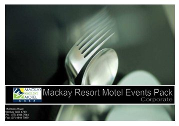 Corporate Events Package (PDF) - Mackay Resort Motel