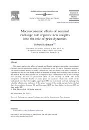 Macroeconomic effects of nominal exchange rate ... - Robert Kollmann