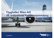 25. Hauptversammlung - Flughafen Wien