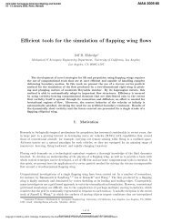 Efficient Tools for the Simulation of Flapping Wing Flows - UCLA ...