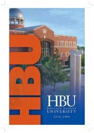 2006-2008 HBU Catalog - Houston Baptist University