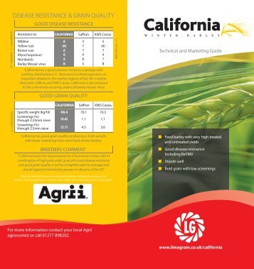 Technical & Marketing Guide 2012 - Limagrain