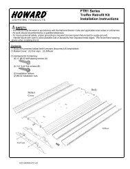 FTR1 Series Troffer Retrofit Kit Installation Instructions