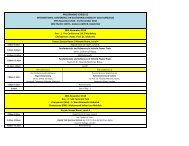 Programme Schedule - space seminar main page