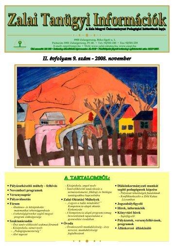 Zalai Tanügyi Információk - Zalai Oktatás