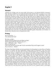 Kapitel 1 Vorwort - Vampires Dawn