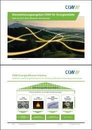Dienstleistungsangebot CKW für Energiestädte
