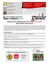 Thank you for registering for the Sunday June 2 ... - Tour de Cure