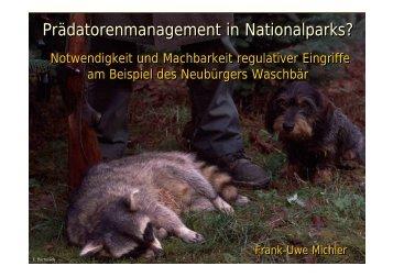 Prädatorenmanagement in Nationalparks? - EUROPARC ...