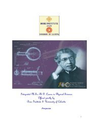 Integrated M.Sc.-Ph.D. Course in Physical Sciences ... - Bose Institute