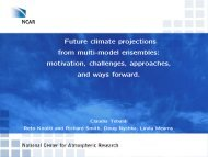 Future climate projections from multi-model ensembles ... - MSRI