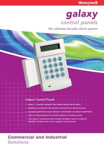 Galaxy Control Panels Brochure - Christie Intruder Alarms