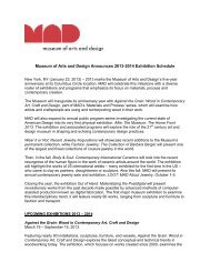Museum of Arts and Design Announces 2013-2014 Exhibition ...