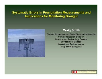 Systematic Errors in Precipitation Measurements and Implications ...