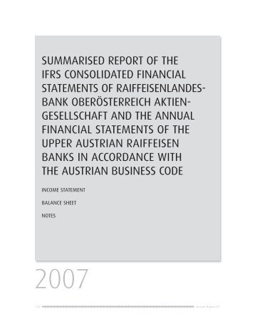 SUMMARISED REPORT OF THE IFRS CONSOLIDATED ...