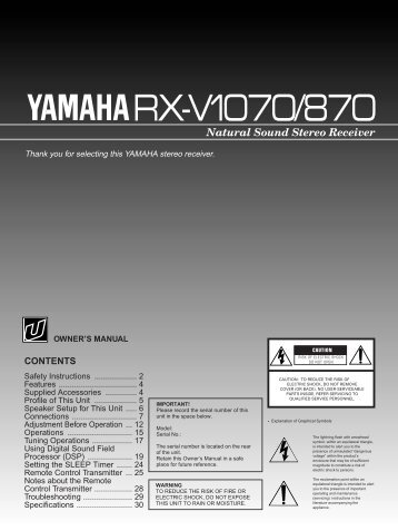 RX-V1070/870 USA - Yamaha
