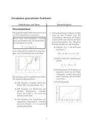 Grundwissen ganzrationale Funktion - Treminer.de
