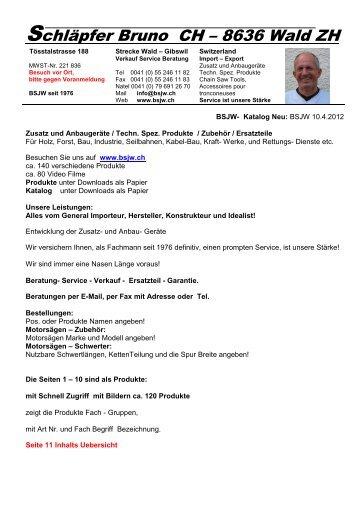 Schläpfer Bruno CH – 8636 Wald ZH - Höhler, Hobler ...