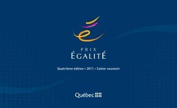 Cahier souvenir 2011 - Secrétariat à la condition féminine Québec ...