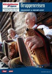 Gruppenreisen - Download brochures from Austria