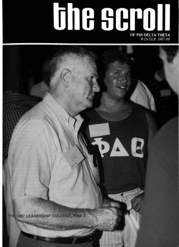 1987–88 Volume 111 No 1–5 - Phi Delta Theta Scroll Archive