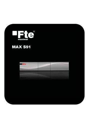 MAX S91_PO_v1.0.indd - FTE Maximal
