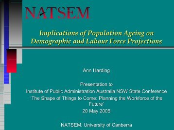 Examples and some tips - NATSEM - University of Canberra