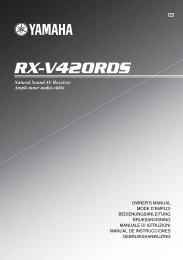 RX-V420RDS - Yamaha