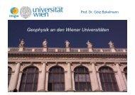 Geophysik an den Wiener Universitäten - Institut für Meteorologie ...