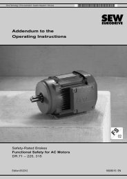 Addendum to the Operating Instructions – Safety ... - SEW-Eurodrive