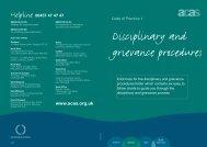 Disciplinary & Grievance Procedures - Acas