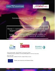 sustainable territorial development and improvement ... - Euromontana