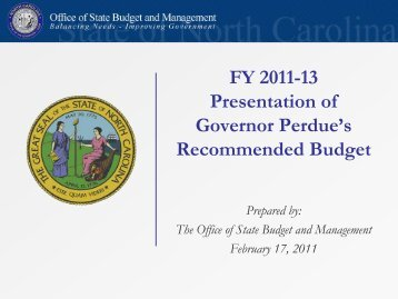 FY 2012-13 - Office of State Budget and Management