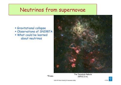 Neutrinos from supernovae