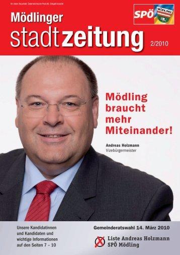 Klicken Sie hier um die aktuelle Mödlinger Stadtzeitung - SPÖ Mödling