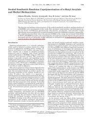 Seeded Semibatch Emulsion Copolymerization of n
