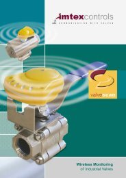 Wireless Monitoring of Industrial Valves - Imtex Controls