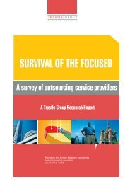 A survey of outsourcing service providers .14 - Trestle Group