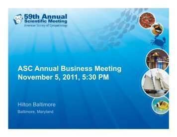 ASC Annual Business Meeting November 5, 2011, 5 - 61st Annual ...