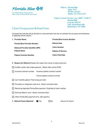 Natural Disaster Claim For Refund Instructions for Forms ...
