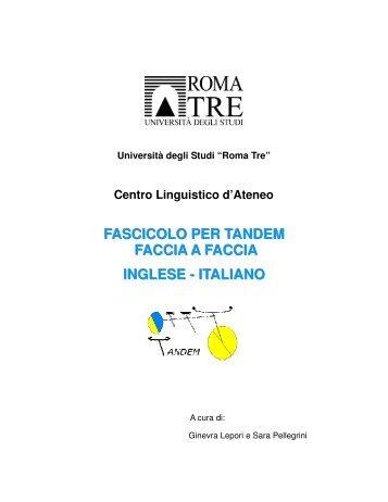 Inglese - Italiano - Centro Linguistico d'Ateneo - Università degli ...