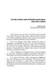 Em visita ao Brasil, criador da Biodanza aponta alguns mitos sobre ...